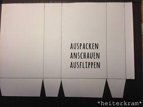 heiterkram: Anleitung Tüte aus A4-Papier