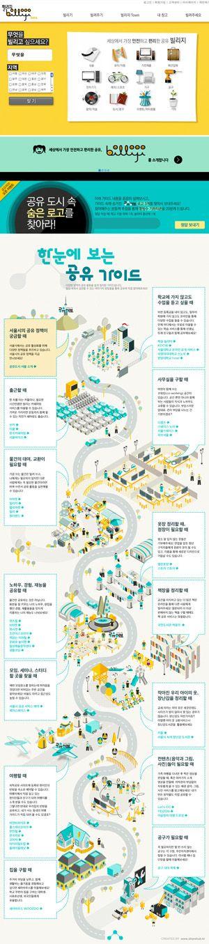 물품 공유 사이트 일부는 SNS와 연결된 회원 정보를 제공함으로써 신뢰를 높이고 있다(맨위). 서울시는 최근 공유허브(www.sharehub.kr)를 오픈했다(아래). 공유경제 서비스를 한자리에 모아놓은 일종의 포털 사이트다.