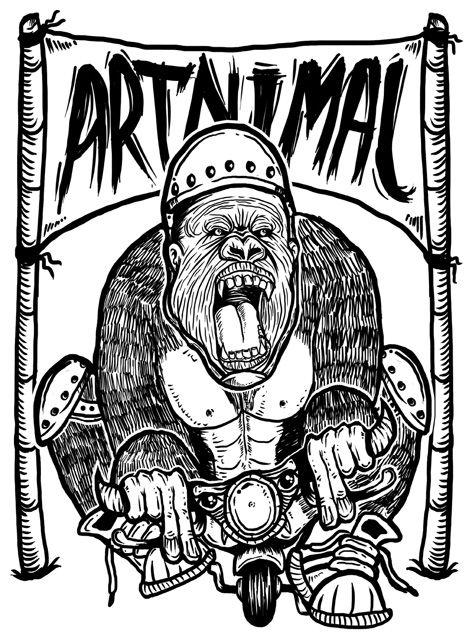 gorilla on bike: Bigfoot, Bike, 472 640, Art, Voodoo, Posts, Gorilla