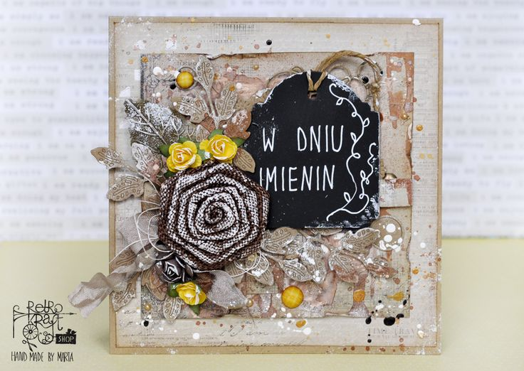 Retro Inspiracje: Kartka imieninowa Marty / Retro Inspirations: Marta's name day card