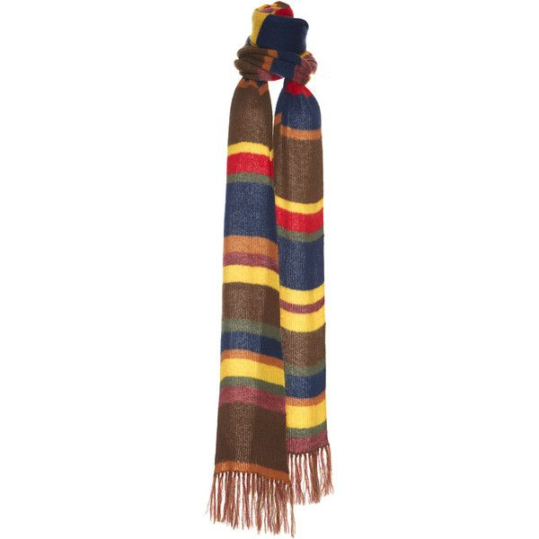 Stripe Scarf | Moda Operandi ($860) ❤ liked on Polyvore featuring accessories, scarves, striped scarves and striped shawl