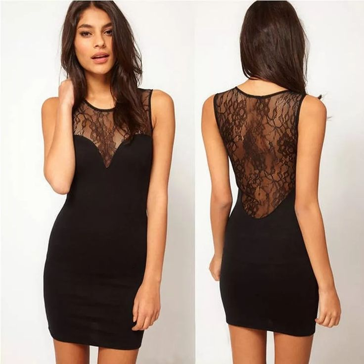 vestido curto preto balada festa sexy renda pronta entrega