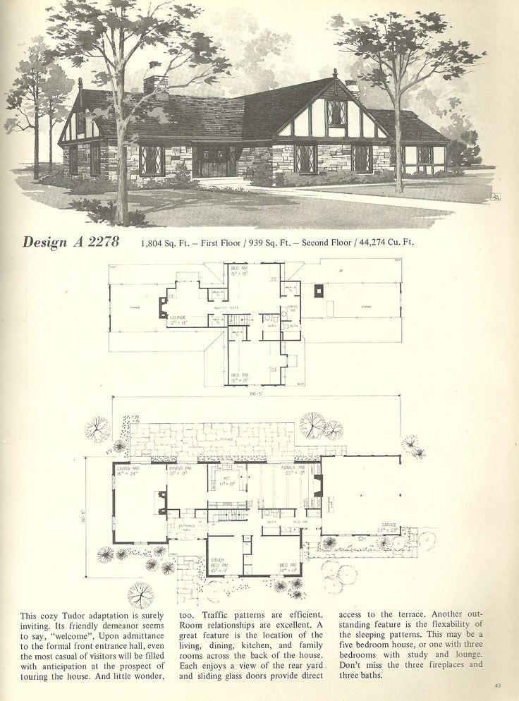 1000 Ideas About Vintage House Plans On Pinterest