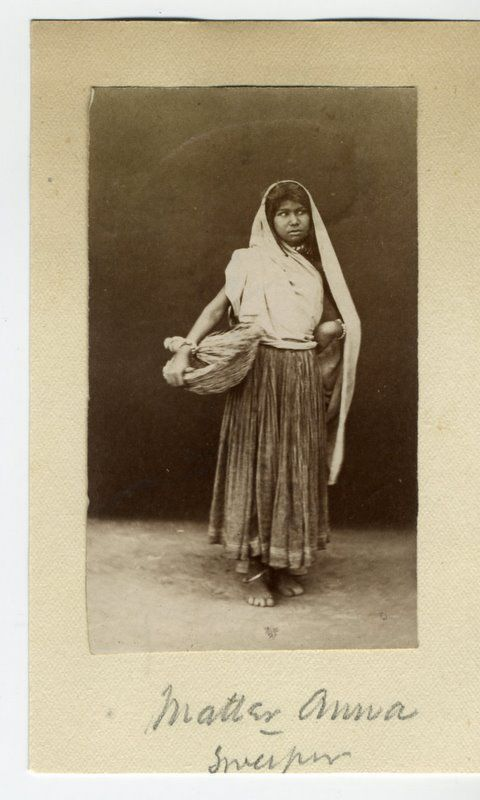 Indian Female Sweeper - 1880's - Old Indian Photos