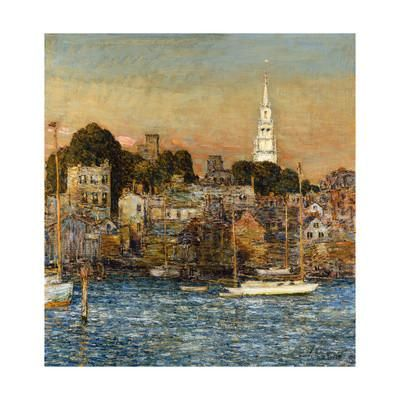 October Sundown, Newport Giclee Print by Childe Hassam at Art.com