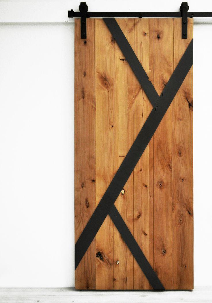 Barn Door Mod Y - Golden Maple and Charcoal