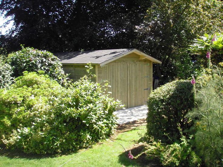 Quoi de plus naturel que l'#abri de #jardin en #bois Import Garden ?