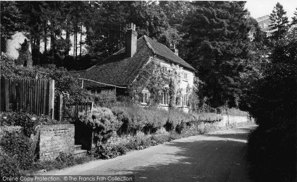 Merstham, Gatton Bottom c.1965, This led to a lovely country walk we often went on.  from Francis Frith