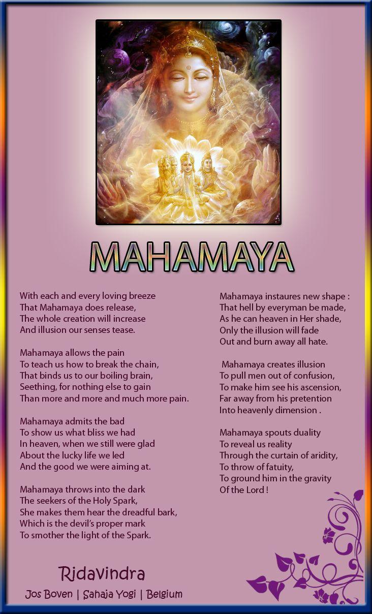 Mahamaya - A poem by Sahaja Yogi Jos Boven   Sahaja Yogi   Belgium
