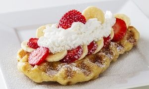 Groupon -  $ 11 for Two Groupons, Each Good for $9 Toward Waffles and Drinks at Waffle Bar ($18 Total Value) in Grand Bizarre Shops at Bally's - Waffle Bar. Groupon deal price: $11