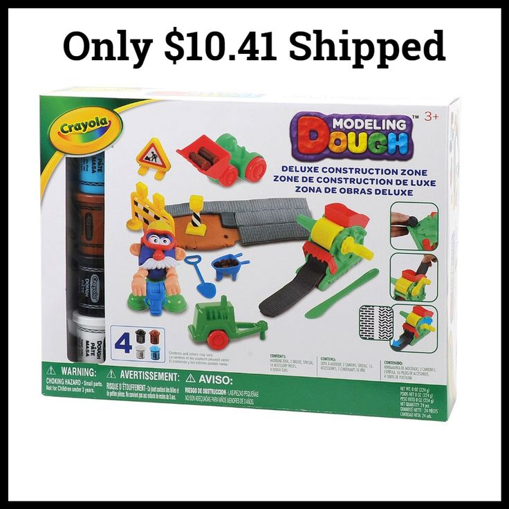 Crayola Modeling Dough Deluxe Construction Zone Kit  Only $10.41 - https://dealmama.com/2017/11/crayola-modeling-dough-deluxe-construction-zone-kit-10-41/