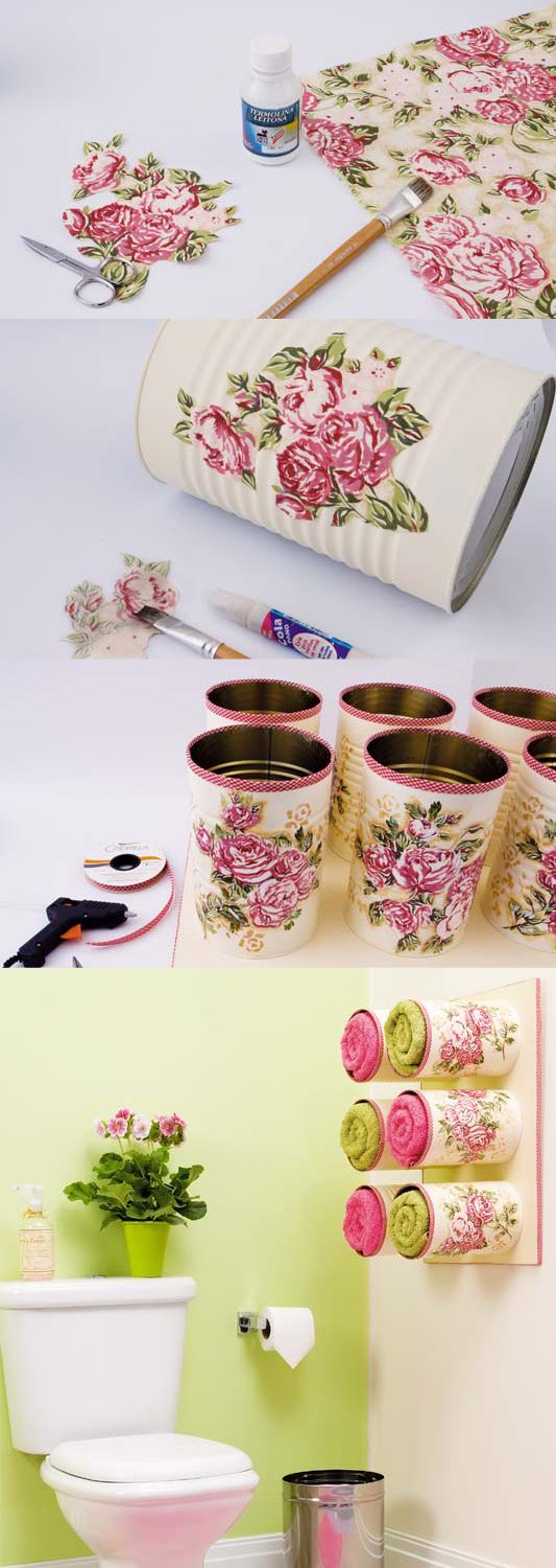 Decoupage Tin Cans Are Absolutely Gorgeous | The WHOot                                                                                                                                                      More