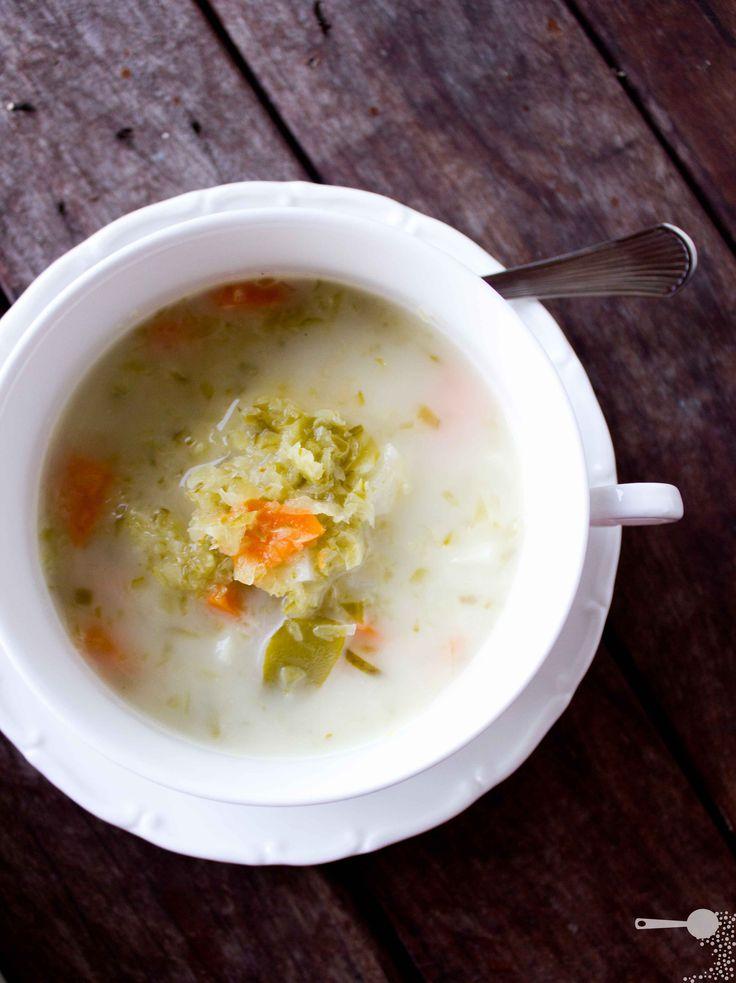 Fermented Dill Pickle Soup | Zupa Ogórkowa - http://wholesome-cook.com/2012/02/27/dill-pickle-soup-zupa-ogorkowa/