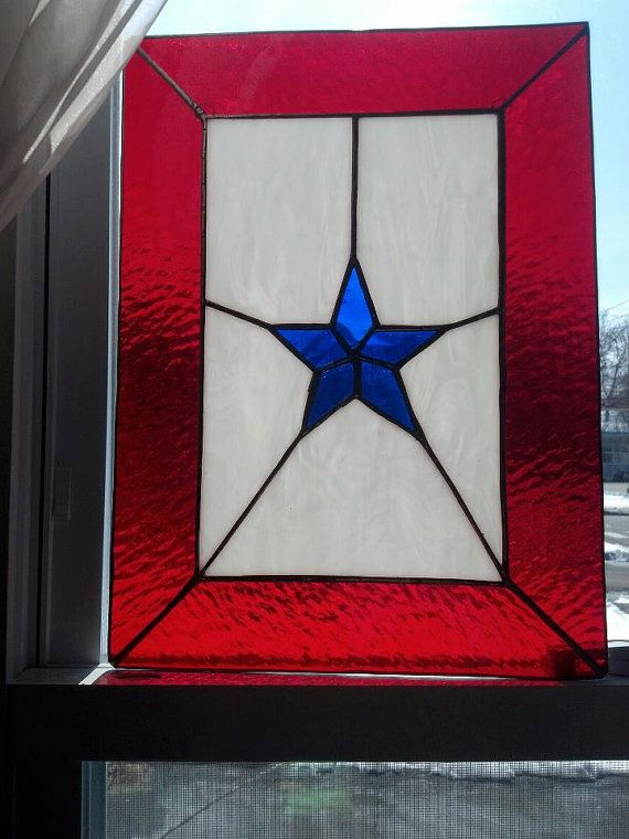 Military Mom's Star stained glass by EricaVMcMahon on Etsy, $60.00