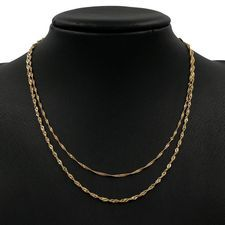 Yellow Gold Singapore Rope Necklaces