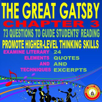 the best the great gatsby analysis ideas the  the great gatsby chapter 3 critical analysis questions for reading or discussion