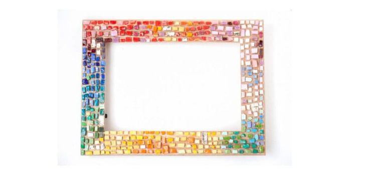 Déco DIY : le tuto du cadre photo en Mosaïque