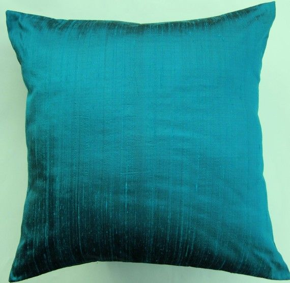 Turquoise Pillow Cover Turquoise Throw Pillow by sassypillows, $16.99