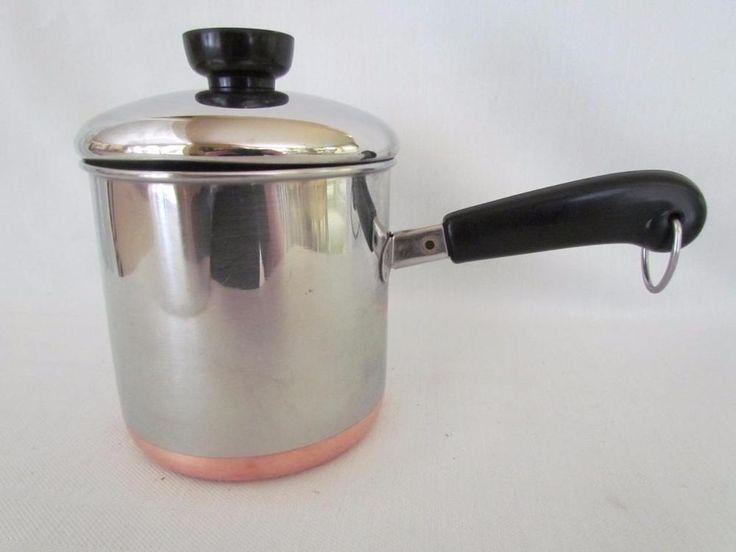 Vintage Revere Ware Measuring 1 5 Qt Pot With Spout Amp Lid