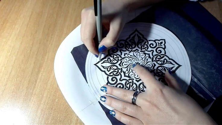 Перевод рисунка на тарелку