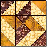 wandering star free quilt block pattern