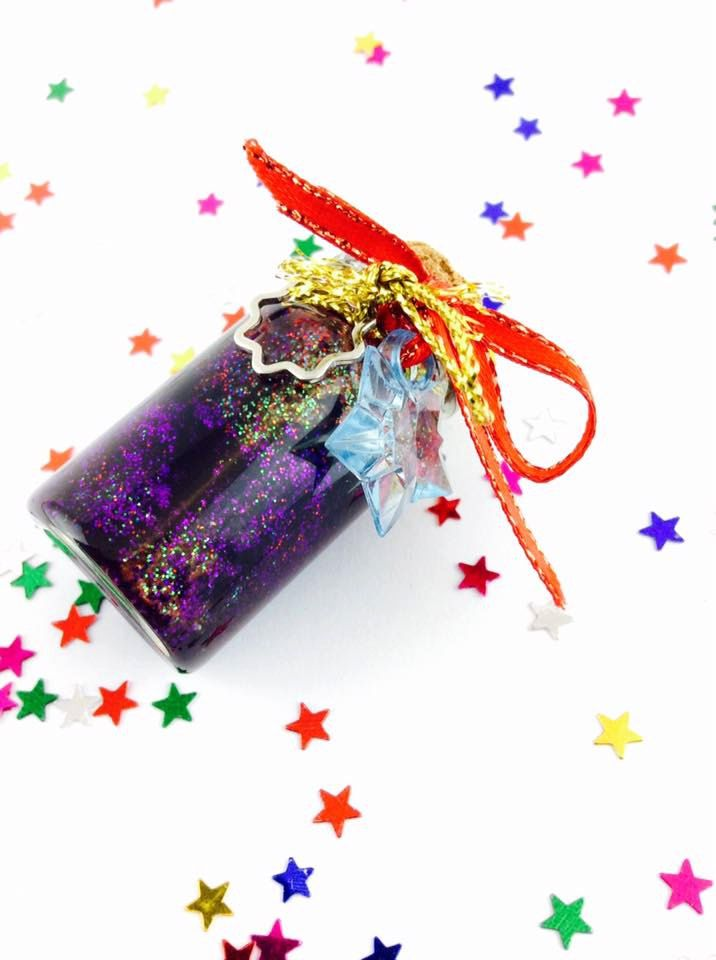 Galaxy in a bottle space dust. Glass vial kawaii charm, short cork bottle, Silver, green and black. Made in Australia. Ready to ship. by spacecakedesigns on Etsy