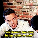 "He's like ""OOOH RAINBOW!!"" then his enthusiasm wears off just as quickly as it came"