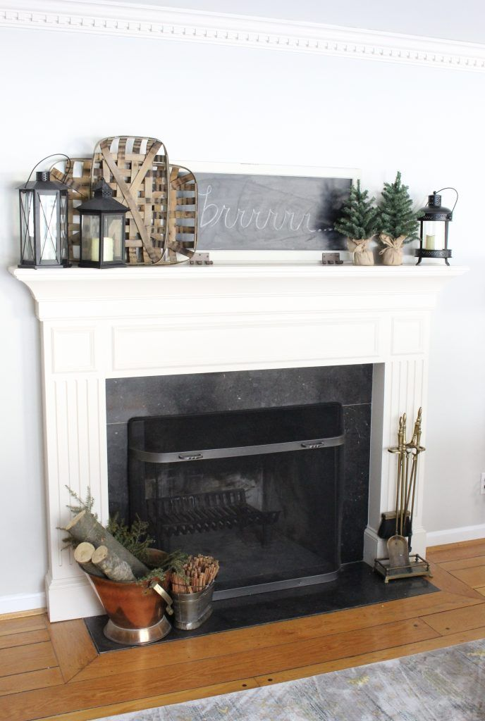 Cozy Peaceful Winter Mantel Decorate Your Mantel Series Funky