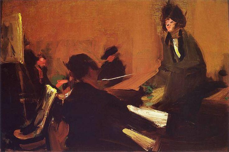 Konrad Krzyżanowski - Wieczór w pracowni, 1906