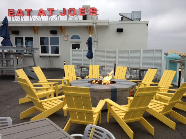 Fire pit at The Roof atop Joe's Crab Shack, Daytona Beach ...