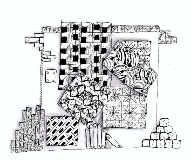 Efie goes Zentangle: art-tangle-club no 85 rasters
