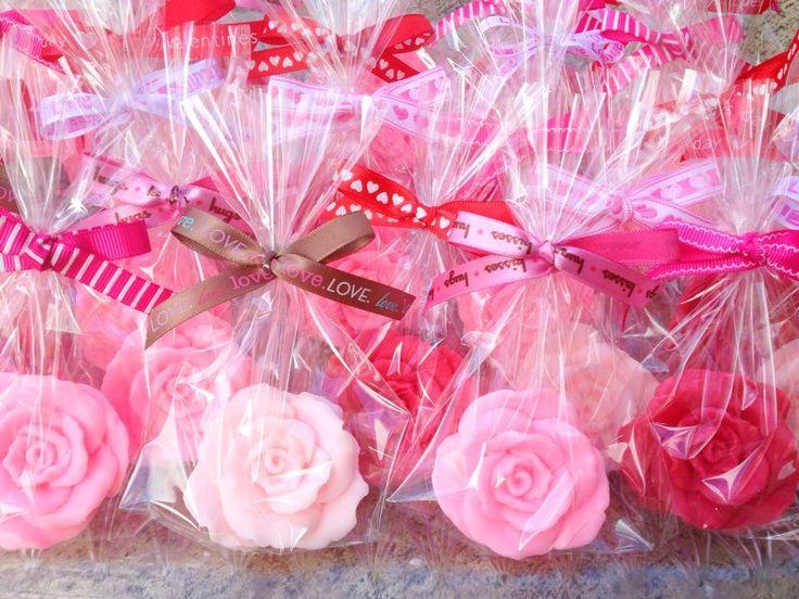ROSE SOAP FAVORS (10 Favors) - Bridal Shower Favor, Wedding Favor, Valentine's Day, Mothers Day, Perfect Gift. $16.50, via Etsy.