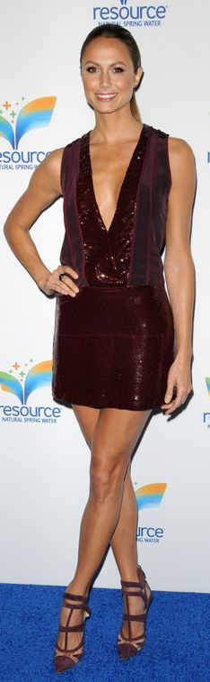 Stacy Keibler: Dress – Diane von Furstenberg  Shoes – Monique Lhuillier