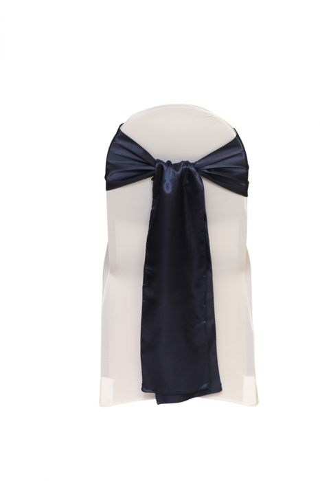 Satin Sash Navy Blue. Satin 8 x 108 inches