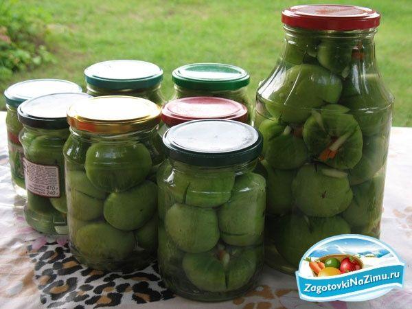 Маринованные помидоры, зеленые помидоры