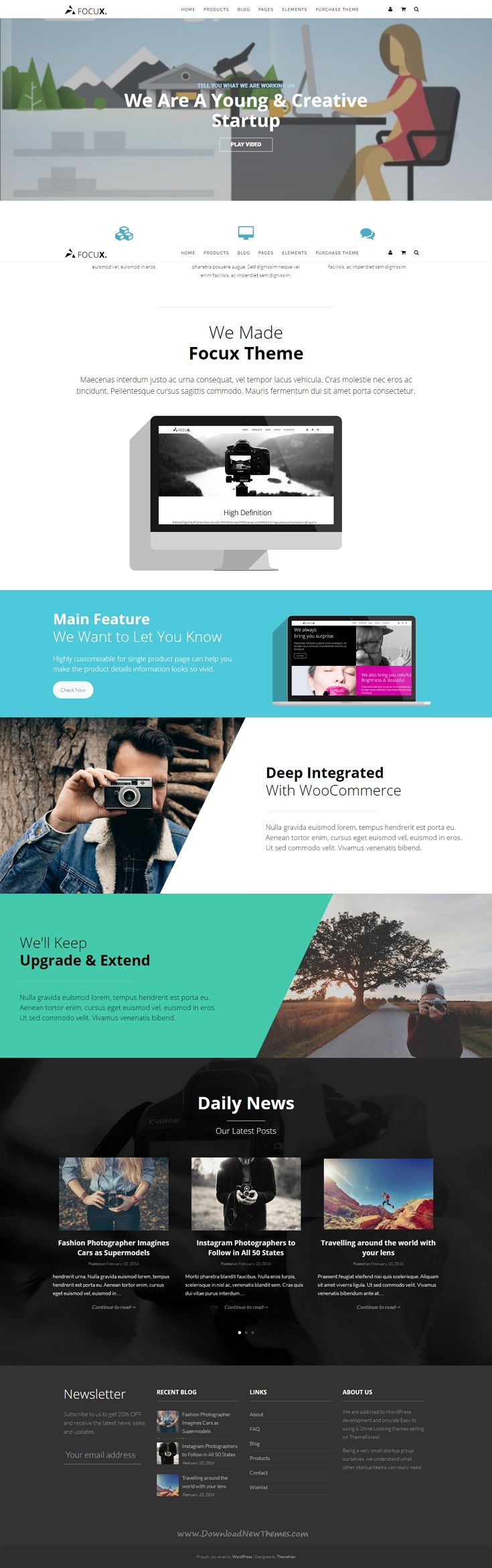 Focux is a multipurpose single product WooCommerce WordPress theme. It comes with  5 stunning prebulit homepage templates and 3 different single product templates