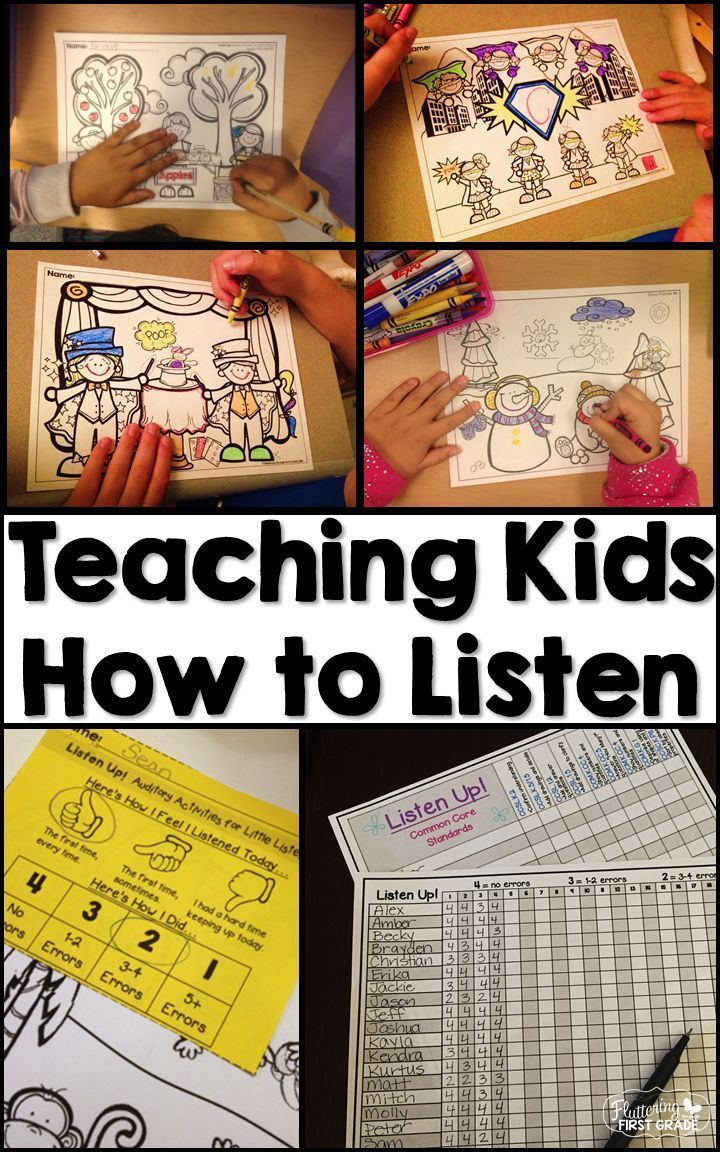 Teaching listening skills from the first day of school is top of our teacher lesson plan book!