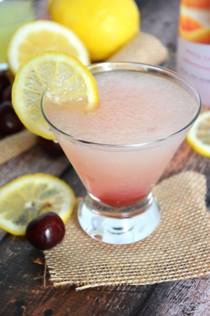 {Spiked} Cherry Lemonade Slushies