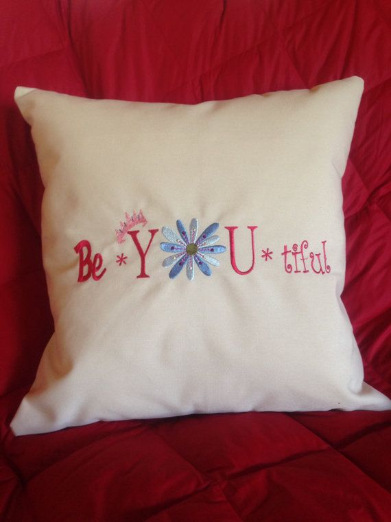 Cute Pillows For Dorm Rooms : decorative pillow slip cover by AkhiWear on Etsy, This would be so cute in a dorm room or little ...