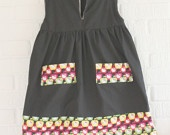 Girl's Hello Kitty V - Neck Dress With Pockets from Little Ra's, #DEAF2012 exhibitor.