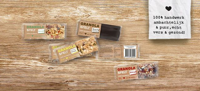 Agency: MAS // Design Consultancy Senior Designer: Mas Peters Project Type: Produced, Commercial Work Client: De Firma Taart Location: Netherlands, Amsterdam Packaging Contents: Granola bars Packaging Materials: Carton, flowpack