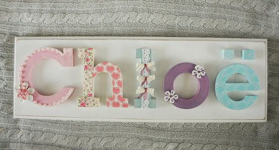 17 Best Ideas About Decorated Wooden Letters On Pinterest