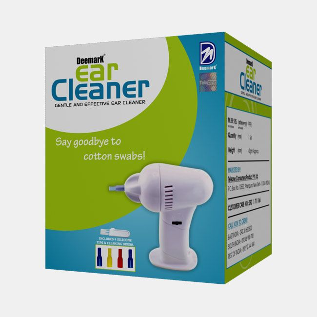 Ear Cleaner - A professional ear cleaning device, this ear cleaner will help clean your ears without pushing in and compacting ear wax. Once you start using this fantastic ear cleaner you will stay away from cotton buds, such a simple solution, and with silicone tips provided to be used by different members of the family.