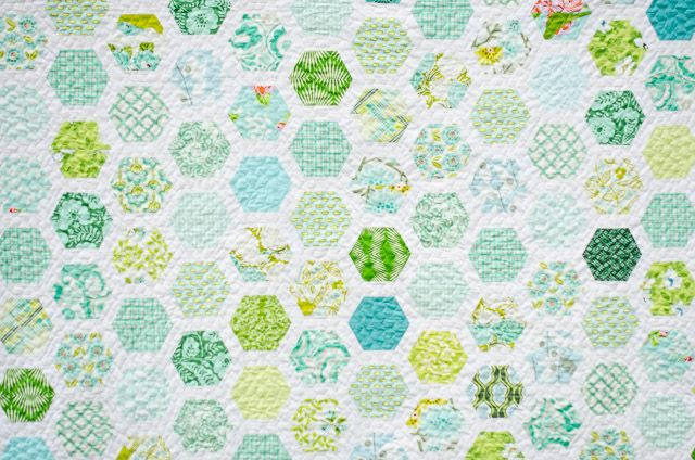 Hexie Framed is a great pattern from Emily Dennis of Quilty Love ... It started with a bin of Heather Bailey fabrics that have bee...