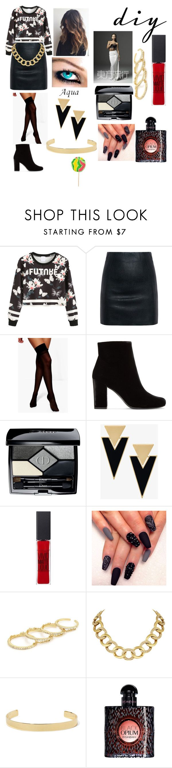 """Sistar-Shake it!🙌👩👩👩"" by sami-xii on Polyvore featuring McQ by Alexander McQueen, Boohoo, Yves Saint Laurent, Christian Dior, Maybelline, Fallon, House of Harlow 1960, Jennifer Fisher, halloweencostume and DIYHalloween"