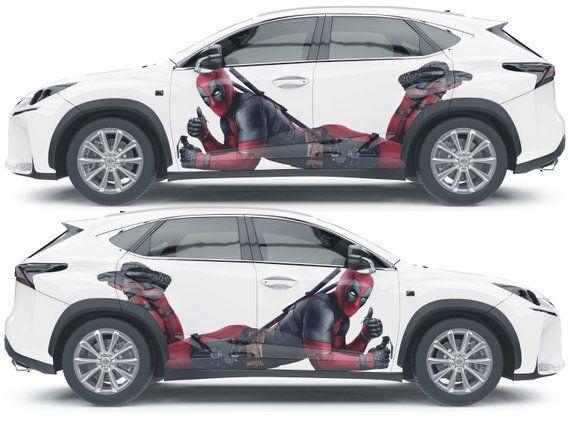 Vinyl Car Body Side Wrap Full Color Top Graphics Decal Etsy Vinyl Wrap Car Vinyl Car