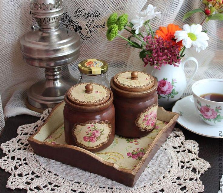 """Набор для кухни """"Чайная роза"""" - Декупаж,набор для кухни,кухня кантри,классика"""