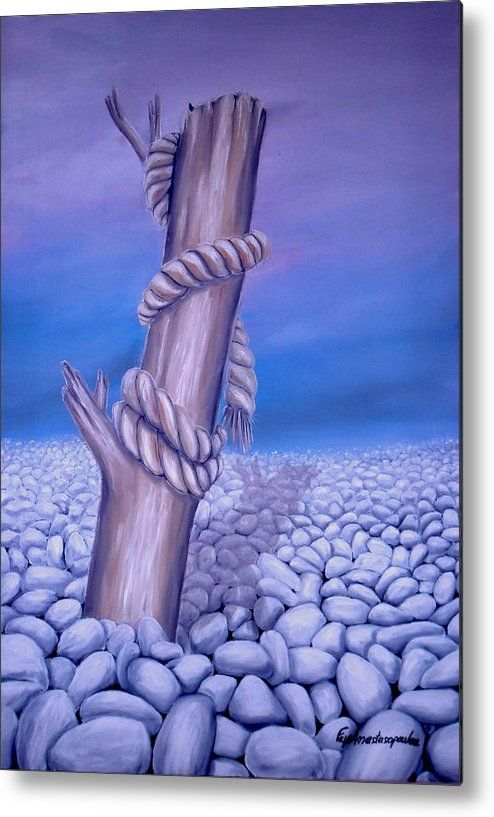 Metal Print,  tree,coastal,scene,stones,desert,landscape,pebbles,rocks,rope,dead,log,branch,wood,trunk,broken,old,blue,purple,lavender,white,beautiful,image,fine,oil,painting,contemporary,scenic,modern,virtual,deviant,wall,art,awesome,cool,artistic,artwork,for,sale,home,office,decor,decoration,decorative,items,ideas