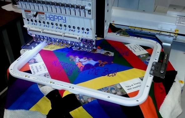"""Quilting in the Hoop with my Happy Embroidery Machine using the 13""""x16"""" Magnetic Mighty Hoop"""