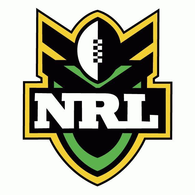 Gold and green with black - powerful spade shape - National Rugby League Primary Logo - National Rugby League (NRL ...